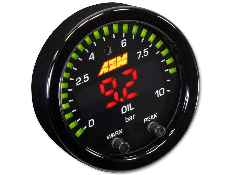 Zegar AEM ELECTRONICS X-Series 10 BAR Oil Pressure - GRUBYGARAGE - Sklep Tuningowy
